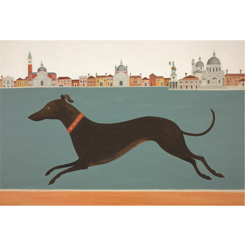Dashing Dog Catriona Hall print