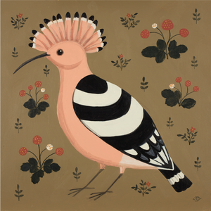 Happy Hoopoe Catriona Hall print