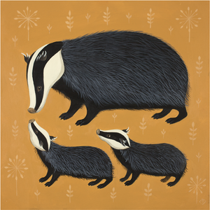 Band of Badgers Print