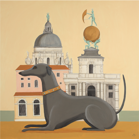 Dog & Dome Catriona Hall print
