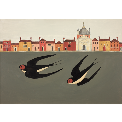 Swooping Swallows Catriona Hall print
