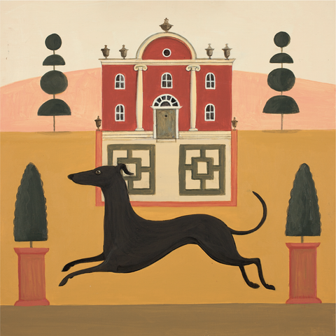 Red Folly Dog Catriona Hall print