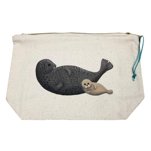 Seals on a Sandbank Wash Bag