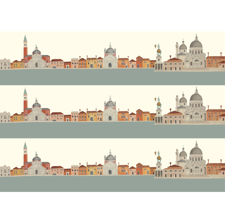 View of Venice Wrapping Paper by Dog & Dome