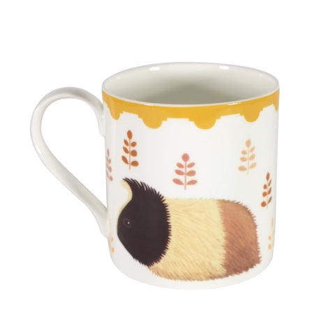 Two-sided fine bone china mug depicting Guinevere the guinea pig on both sides