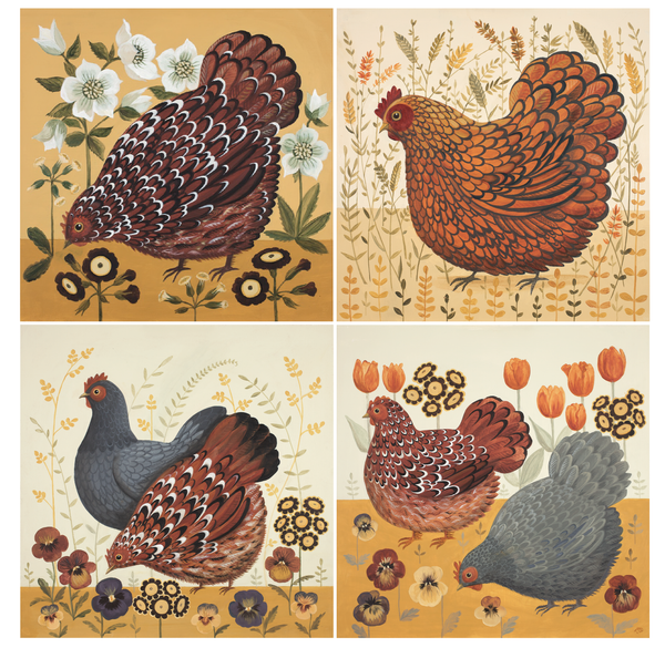 Arthur's Hens Dog & Dome Print Bundle
