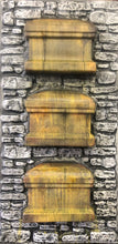 Load image into Gallery viewer, 3 Stacked Coffins Embedded in Stone Wall RS505