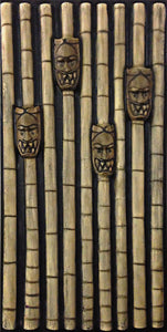 Tiki Tribal Bamboo Wall with Masks MS902