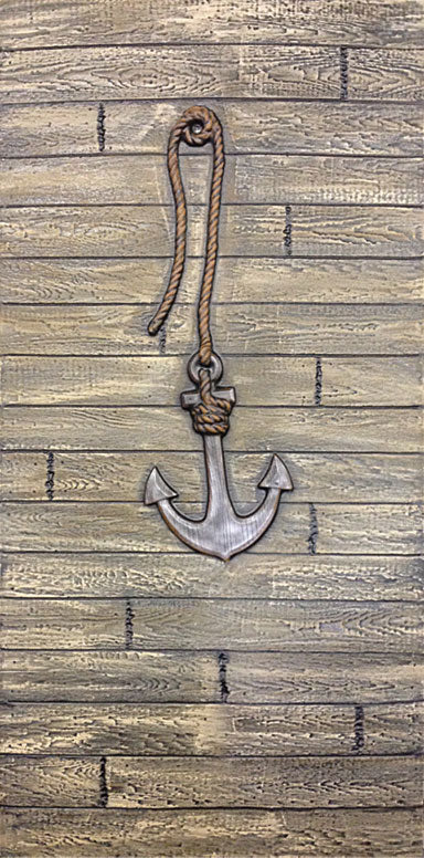 Driftwood Wall with Anchor DW103