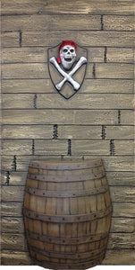Driftwood Wall with Barrel DW105