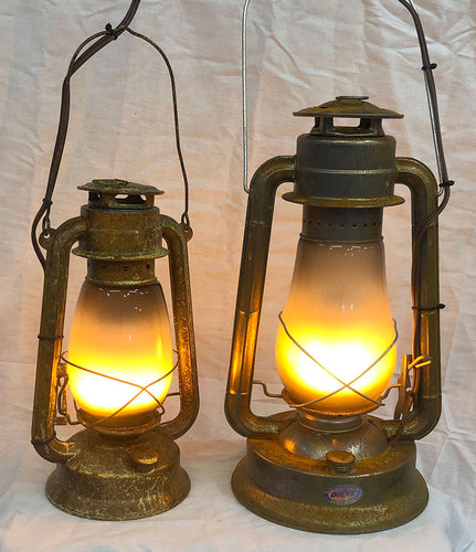 LED Realistic Rusted Flame Lantern - LARGE HS116