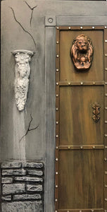 Mansion Gothic Lion Head Door Left ML601