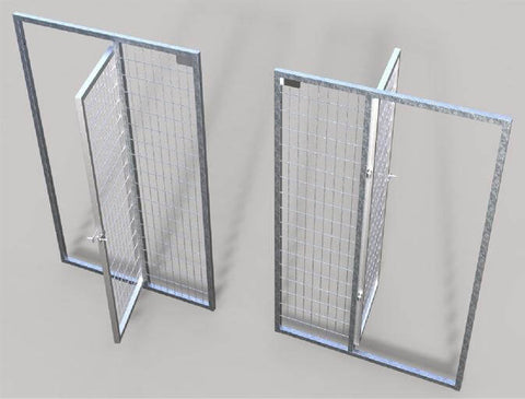 TK products kennels door assembly easily open in or out