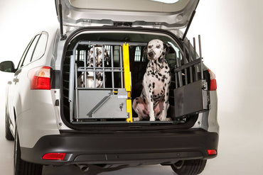 MIM Safe Variocage Double - Car Crash Tested Travel Crate with 2 dogs