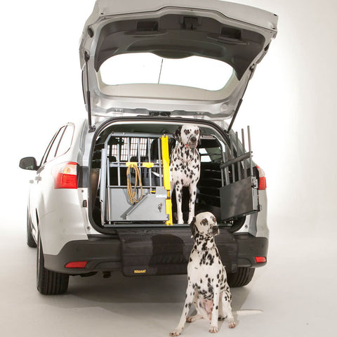 MIM Safe Variocage Double - Car Crash test crate in use