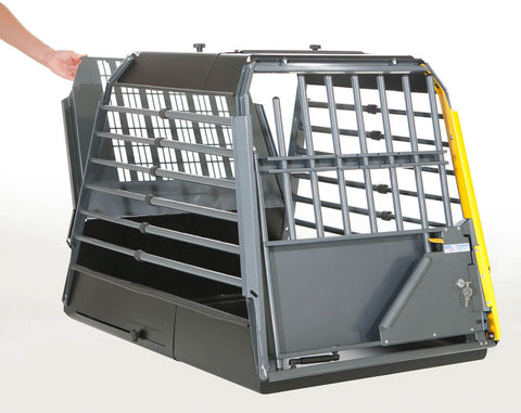 MIM Safe Variocage Single Dog Car Crash Tested Travel Crate with escape hatch