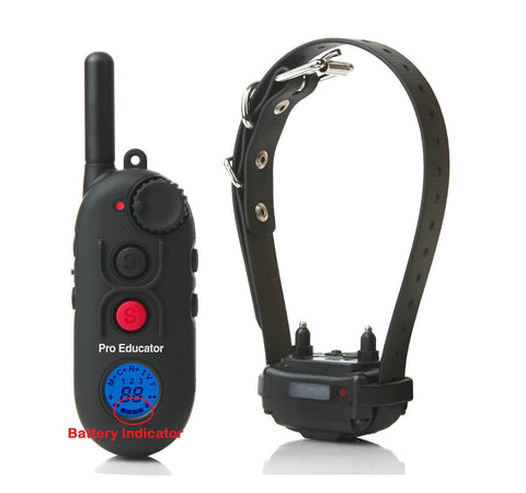 E-Collar PE-900 Pro Educator Advanced Remote Dog Trainer 1/2 Mile battery indicator