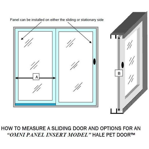 Hale Omni Panel Sliding Glass Door Mounted Dog and Cat Door sizing guide