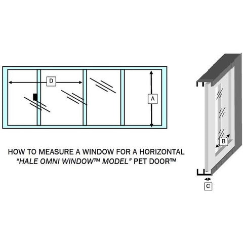 Hale SpringTech Horizontal Window Mounted Dog and Cat Door install guide