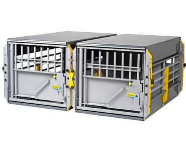 MIM MultiCage Crash Tested Multi-Dog Transport Kennel side by sige