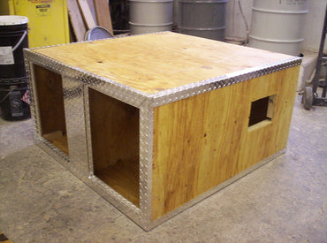 Owens DIY Aluminum Double Dog Box Kit | 3-4 Week Lead Time
