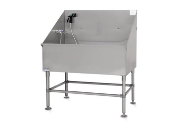 PetLift Classic Stainless-Steel Pet Grooming Bath Tub
