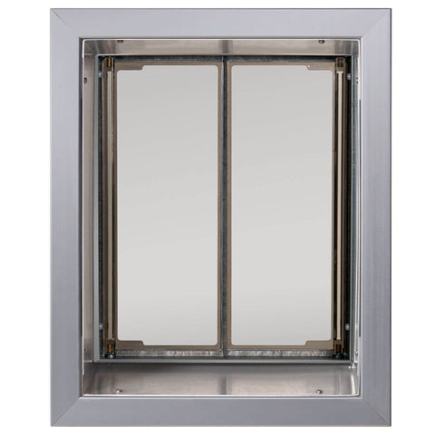 PlexiDor In-Wall Mount Performance Cat & Dog Door in large silver