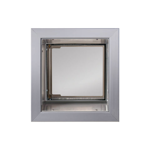 PlexiDor In-Wall Mount Performance Cat & Dog Door in silver small