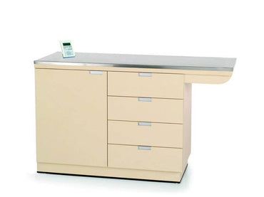 VetLine Veterinary Overhang Exam Table with Scale & Storage