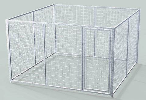 TK Products Pro-Series Single Dog Kennel - Indoor/Outdoor Wire Enclosed Kennel 10x10