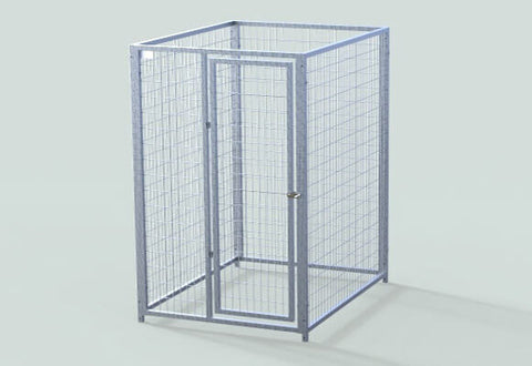 TK Products Pro-Series Single Dog Kennel - Indoor/Outdoor Wire Enclosed Kennel 4x5