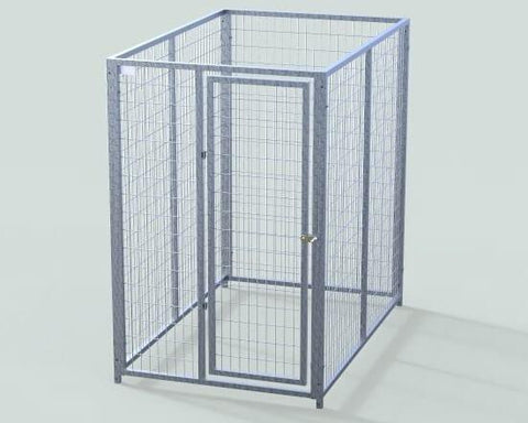 TK Products Pro-Series Single Dog Kennel - Indoor/Outdoor Wire Enclosed Kennel 4x6