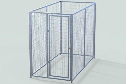 TK Products Pro-Series Single Dog Kennel - Indoor/Outdoor Wire Enclosed Kennel 4x8
