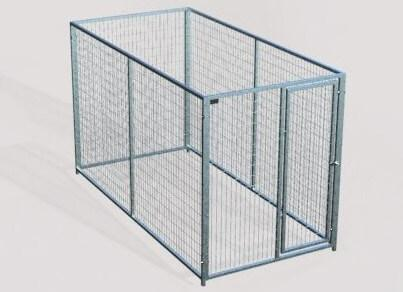 TK Products Pro-Series Single Dog Kennel - Indoor/Outdoor Wire Enclosed Kennel 5x10