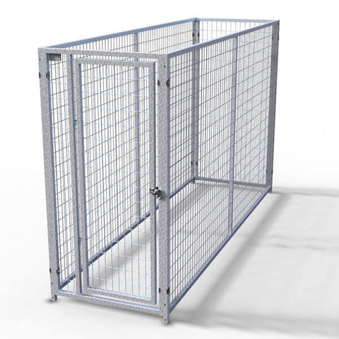 TK Products Pro-Series Single Dog Kennel - Indoor/Outdoor Wire Enclosed Kennel 3'x10'