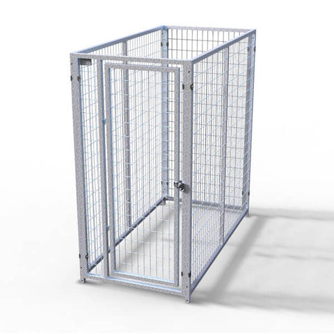 TK Products Pro-Series Single Dog Kennel - Indoor/Outdoor Wire Enclosed Kennel 3'x6'