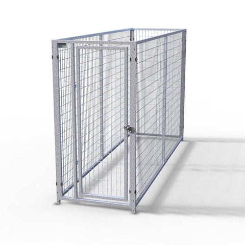 TK Products Pro-Series Single Dog Kennel - Indoor/Outdoor Wire Enclosed Kennel 3'x8'