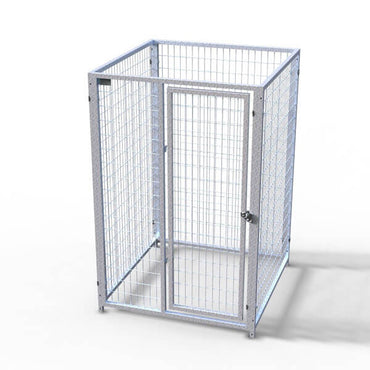 TK Products Pro-Series Single Dog Kennel - Indoor/Outdoor Wire Enclosed Kennel 4'x4'