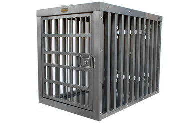 Zinger Heavy Duty Aluminum Dog Crate front entry image