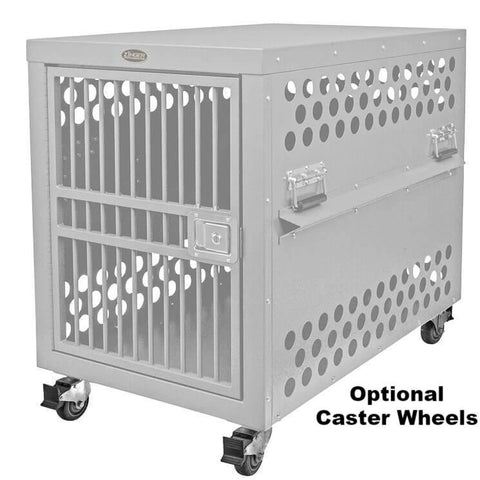 Zinger Deluxe Airline Compliant Aluminum Dog Travel Crate IATA CR 82 crate options wheels
