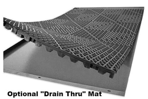 Zinger Deluxe Aluminum Dog Travel Crate drain through mat