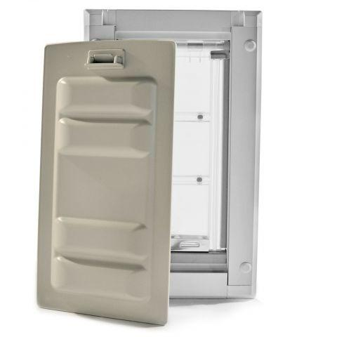 Endura Flap by Patio Pacific - Wall Mounted Cat & Dog Door white door with cover