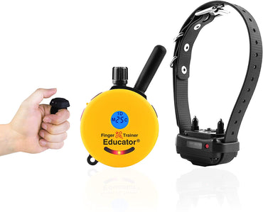 E-Collar FT-330 Finger Educator 1/2 Mile Remote Dog Trainer Collar