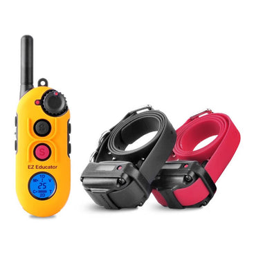 E-Collar EZ-900 Easy Educator 1/2 Mile Modern Dog Trainer Remote Collar for 2 dogs