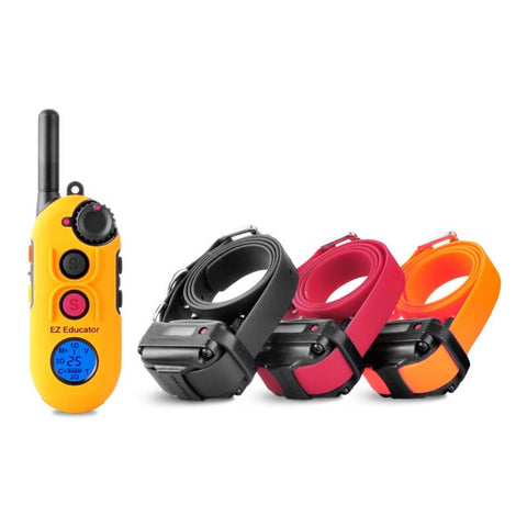 E-Collar EZ-900 Easy Educator 1/2 Mile Modern Dog Trainer Remote Collar for 3 dogs