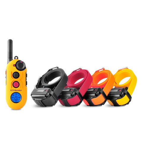 E-Collar EZ-900 Easy Educator 1/2 Mile Modern Dog Trainer Remote Collar for 4 dogs