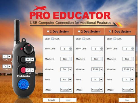 E-Collar PE-900 Pro Educator Advanced Remote Dog Trainer 1/2 Mile computer setup
