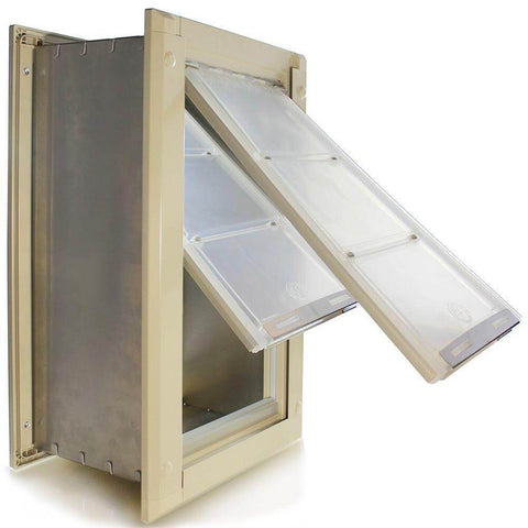 Endura Flap by Patio Pacific - Wall Mounted Cat & Dog Door tan door
