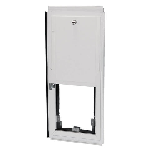 Hale Omni Horizontal Window Mounted Dog Door and Cat Door with security cover