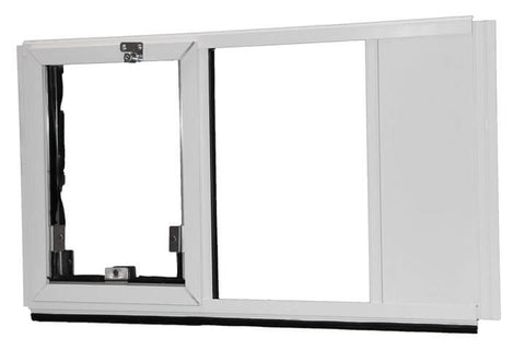 Hale Omni Vertical Window Mounted Dog and Cat Door - for Sash Windows